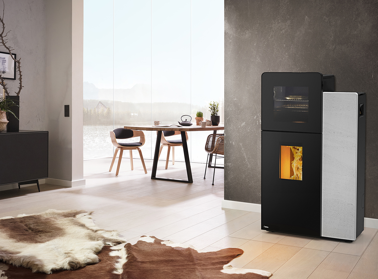 DOMO BACK pelletstove