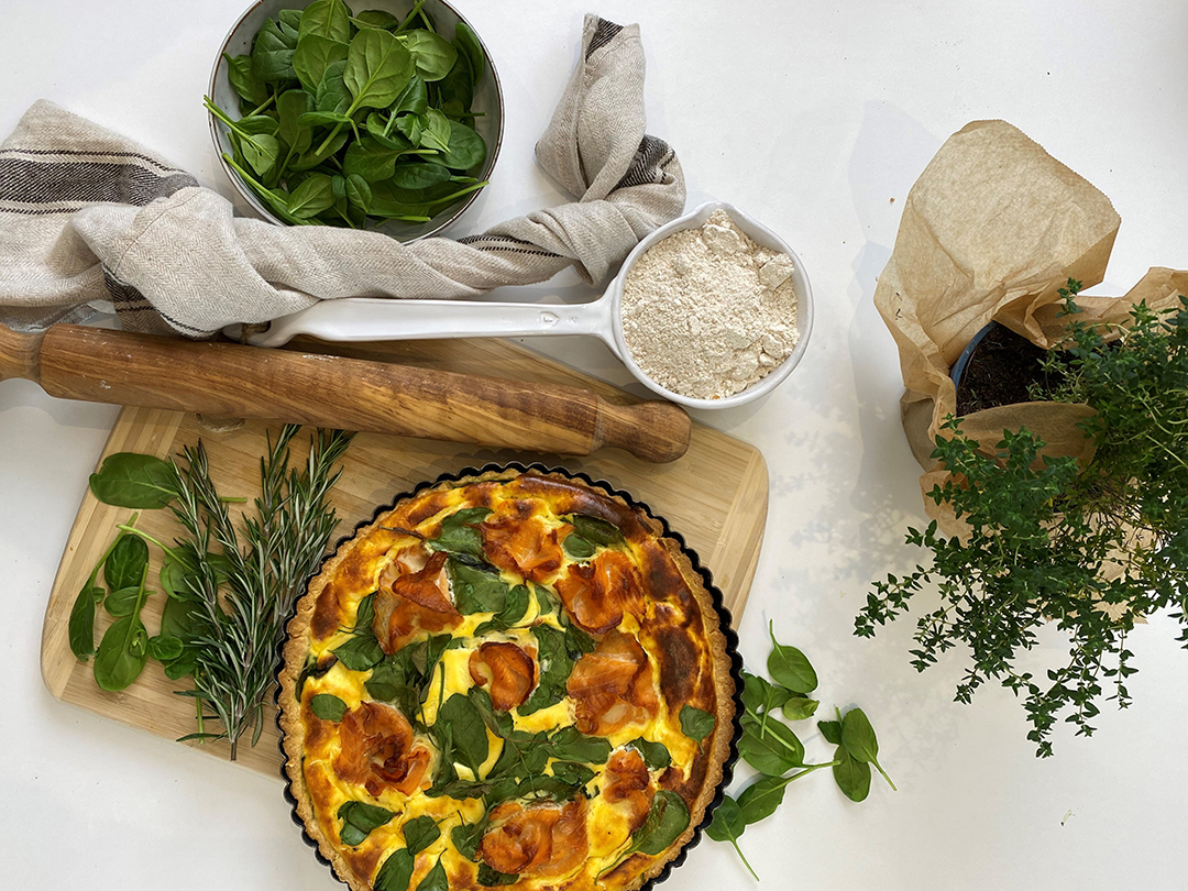 Vollkorn quiche